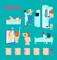 breast disease icon set vector image