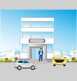 building beside roads vector image vector image