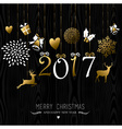 Christmas and new year gold ornament decoration vector image
