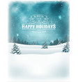 christmas holidays landscape background vector image vector image
