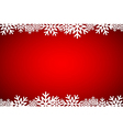 Christmas red background lined snowflakes vector image