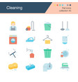 cleaning icons flat design collection 45 vector image vector image