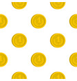 coin pattern flat vector image vector image