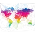 Colored world map triangle design vector | Price: 1 Credit (USD $1)