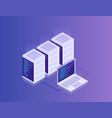 concept data network management cloud storage vector image vector image