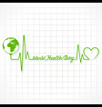 Creative World Health Day Greeting with heartbeat vector image vector image