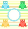cute cartoon owl vector image vector image