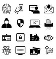 cybersecurity and online safety icon set vector image vector image