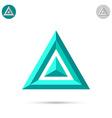 Delta letter icon vector image