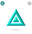 Delta letter icon vector image vector image