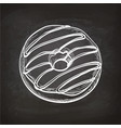 donut sketch on chalkboard vector image