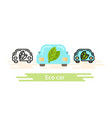 eco car icon template this shows a vector image