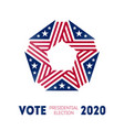 election poster for voting day in united states vector image vector image