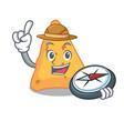 explorer nachos mascot cartoon style vector image vector image