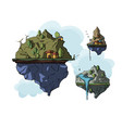 floating island 3d vector image