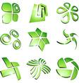 Green vibrant logos vector image