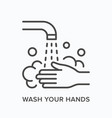 hand wahing line icon outline vector image vector image