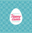 happy easter - template with egg and seamless vector image