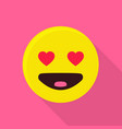 heart emoticon icon flat style vector image