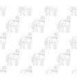 horse outline on white cartoon background vector image vector image
