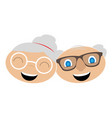 isolated grandparents avatar vector image vector image