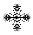 isolated snowflake vector image