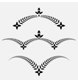 Laurel wreath tattoo set Decorative ornament with vector image vector image