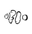 logo clown fish vector image vector image