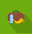 lunchtime icon flat style vector image vector image