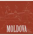 Moldova landmarks Retro styled image vector image vector image