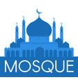 mosque islamic mouslim design relirion vector image