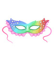 multicolored carnival mask with stars isolated vector image