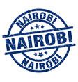 nairobi blue round grunge stamp vector image vector image
