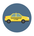 new york city taxi vector image vector image