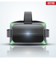 Original stereoscopic 3d VR headset white vector image