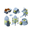 paper production press equipment plants industry vector image vector image