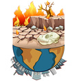 pollution on earth and drought vector image vector image