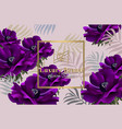 purple poppy flowers abstract design card vector image vector image