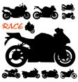 race motorcycles vector image vector image