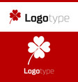 red four leaf clover icon isolated on white vector image vector image