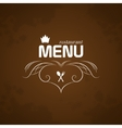 Restaurant Menu on brown background vector image vector image