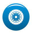 rubber protector icon blue vector image vector image