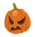 scary halloween pumpkin horror and spooky head vector image