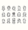 set different people characters set vector image