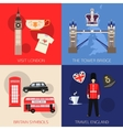 Set of England travel compositions with place for vector image vector image