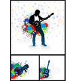 set of music theme vector image vector image