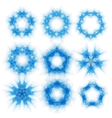 Set of triangle round patterns vector image vector image