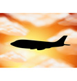 Silhouette airplane vector image vector image