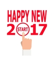 Start new year 2017 idea vector image