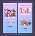 summer disco cocktail party typography poster vector image